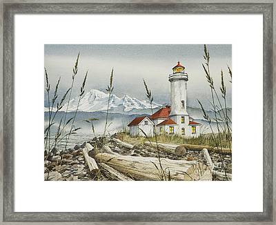 Point Wilson Lighthouse Framed Print by James Williamson