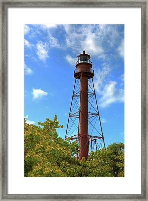 Framed Print featuring the digital art Point Ybel Lighthouse by Sharon Batdorf