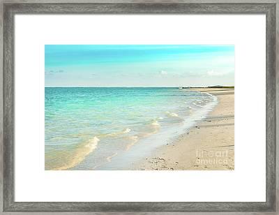 Pointe D'esny Beach, Mauritius.  Framed Print