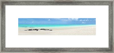 Pointe D'esny Beach, Mauritius. Panorama Framed Print