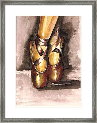 Pointe En Red Framed Print