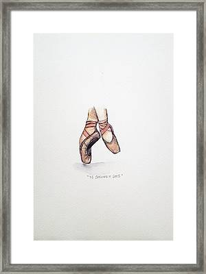 Pointe On Friday Framed Print by Venie Tee
