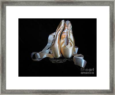 Pointe Shoes And Dog Tags2 Framed Print by Laurianna Taylor