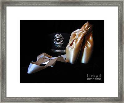 Pointe Shoes And Police Framed Print by Laurianna Taylor
