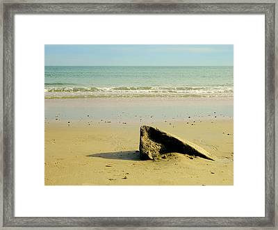 Pointed Rock At Squibby Framed Print