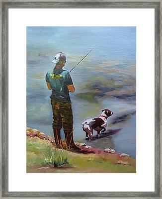 Pointin Fish Framed Print by Vicki Brevell