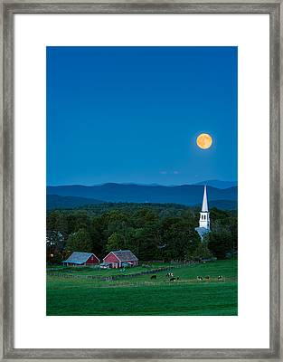 Pointing At The Moon Framed Print by Michael Blanchette
