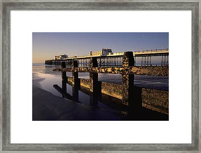 Pointing Out To Sea Framed Print by Hazy Apple