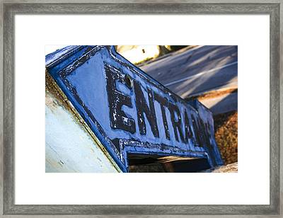 Pointing The Way Framed Print by Steven  Taylor