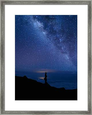 Framed Print featuring the photograph Pointing To The Heavens by Susan Rissi Tregoning
