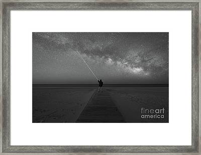 Pointing To The Stars Bw Framed Print by Michael Ver Sprill