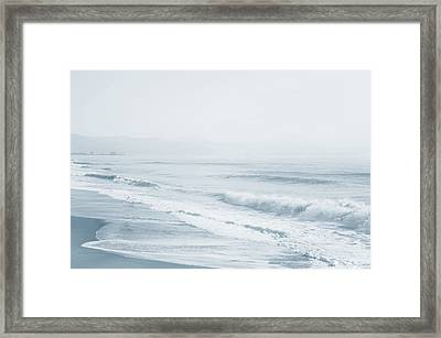 Framed Print featuring the photograph Pointless Nostalgia. Series Ethereal Blue  by Jenny Rainbow