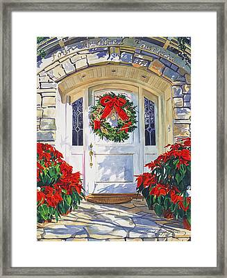 Pointsettia House Framed Print by David Lloyd Glover