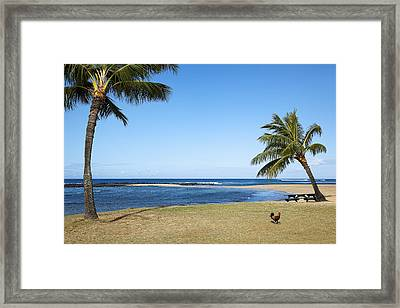 Poipu Beach Framed Print by Kelley King