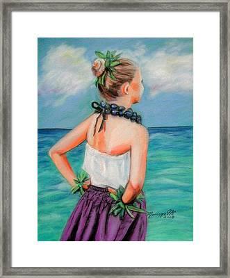 Poipu Hula Framed Print