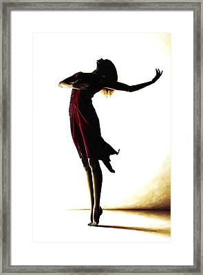 Poise In Silhouette Framed Print