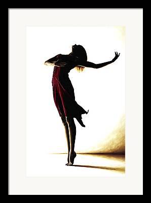 Shadow Dancing Paintings Framed Prints