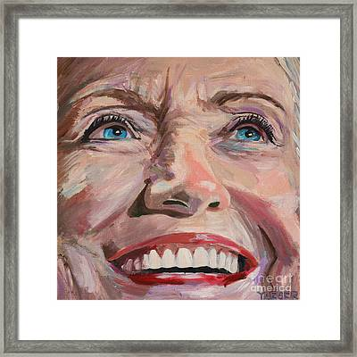 What Might Have Been  Hillary Clinton Portrait Framed Print