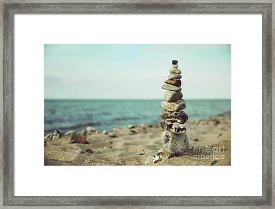Poised Framed Print by Hannes Cmarits