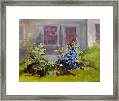 Poison Ivy And Clematis Framed Print by Kathy Busillo