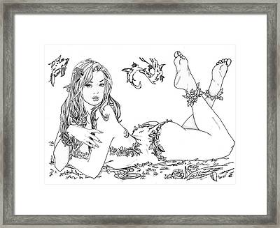 Poison Ivy - Grayscale Framed Print by Bill Richards