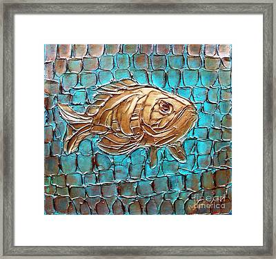 Framed Print featuring the painting Poisson D'ore by Phyllis Howard