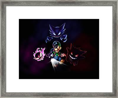Poke-mansion Framed Print