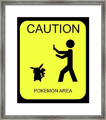 Framed Print featuring the digital art Pokemon Area by Shane Bechler