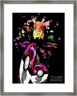 Pokemon Go Pikachu Framed Print by Daniel Janda