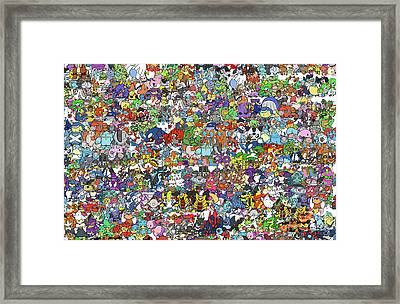 Pokemon  Framed Print by Mark Ashkenazi