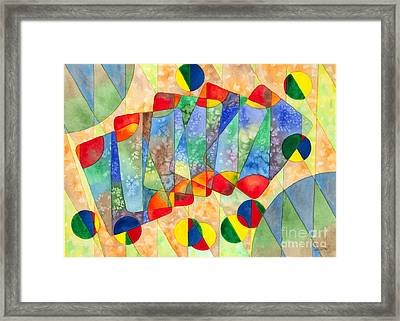 Poker Abstract Watercolor Framed Print