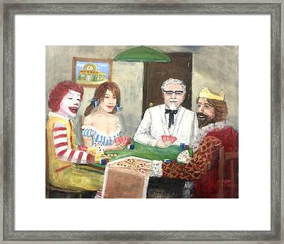 Poker With The Ad Icons Framed Print
