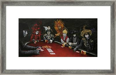 Framed Print featuring the painting Poker Face II by Jason Marsh