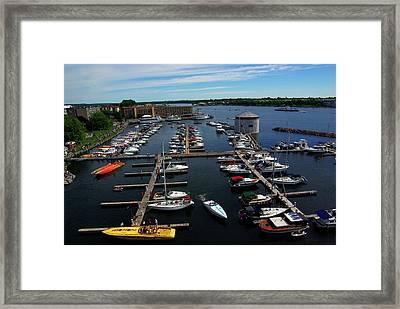 Poker Run Boats At Confederation Basin Framed Print