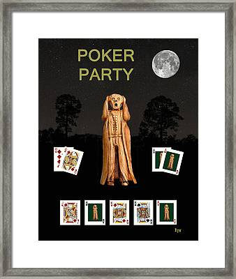 Poker Scream Party Poker Framed Print