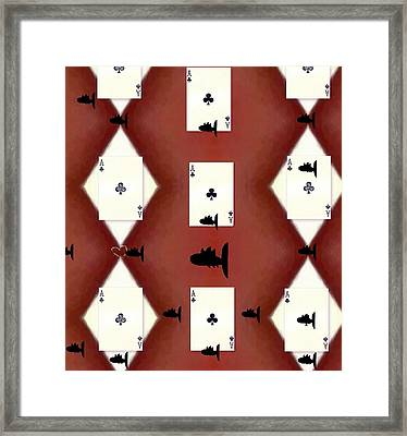 Poker Sharks Framed Print by Pepita Selles