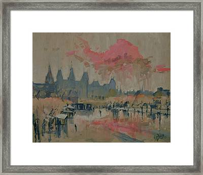 Pokkenweer Museum Square In Amsterdam Framed Print