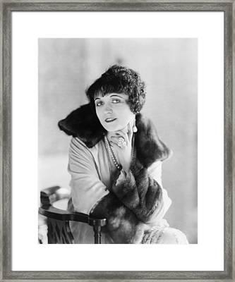 Pola Negri 1899-1987, Polish Silent Framed Print by Everett