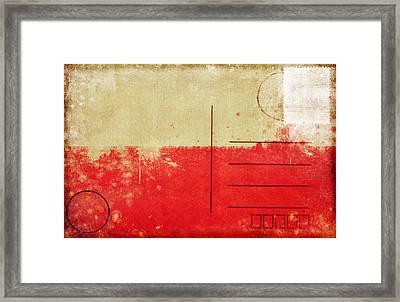 Poland Flag Postcard Framed Print