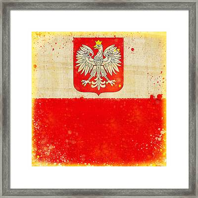 Poland Flag Framed Print by Setsiri Silapasuwanchai