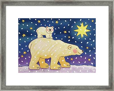 Polar Back Ride Framed Print by Cathy Baxter