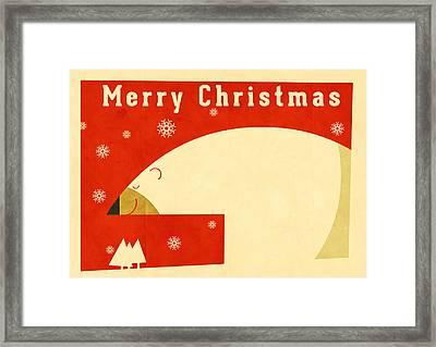 Polar Bear 4 Framed Print by Daviz Industries