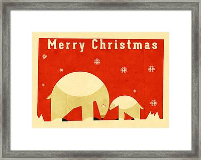 Polar Bear 5 Framed Print by Daviz Industries