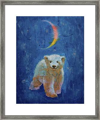 Polar Bear Cub Framed Print