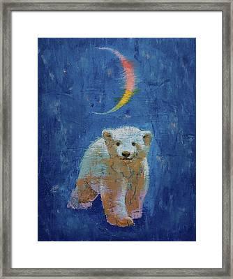 Polar Bear Cub Framed Print by Michael Creese