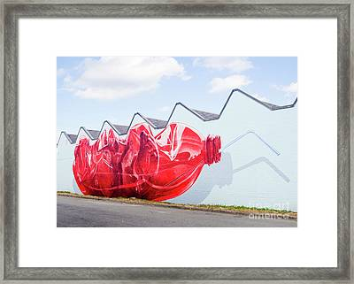 Framed Print featuring the photograph Polar Bear In A Coke Bottle by Chris Dutton