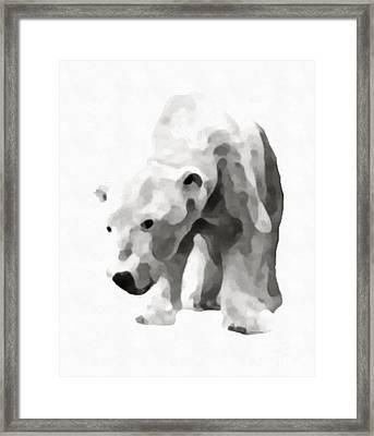 Polar Bear Painting Framed Print by Edward Fielding