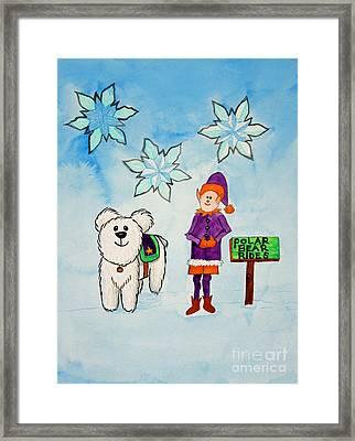 Polar Bear Rides Framed Print by Norma Appleton