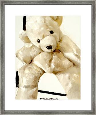 Polar Bear Stuffed Animal Framed Print by Tommervik