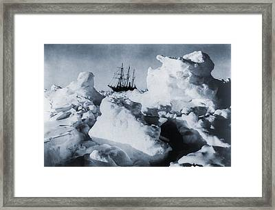 Polar Explorer, Ernest Shackletons Framed Print by Everett
